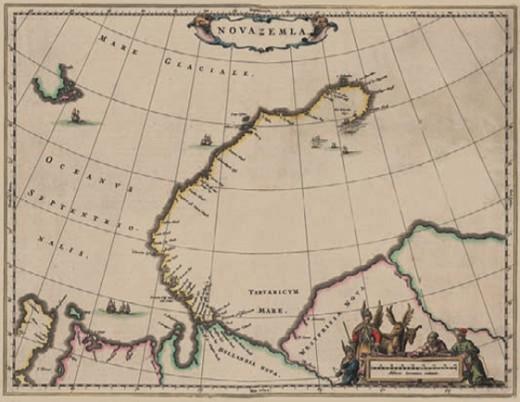 Незаконченная карта побережья Новой Земли