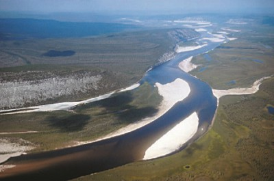 Река Оленёк на Таймыре