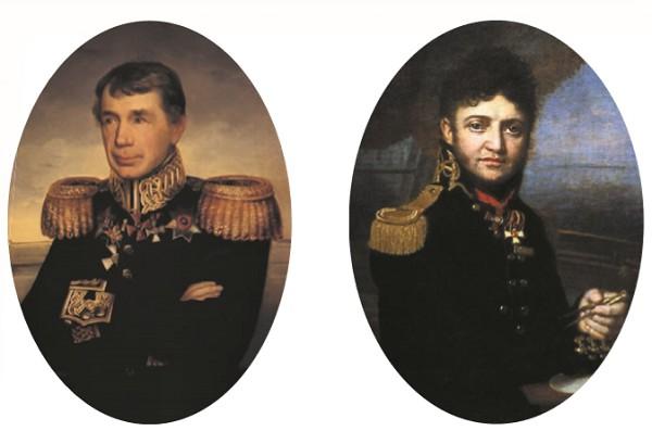 ИВАН КРУЗЕНШТЕРН (слева) и ЮРИЙ ЛИСЯНСКИЙ