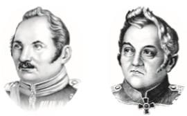 ФАДДЕЙ БЕЛЛИНСГАУЗЕН (слева) и МИХАИЛ ЛАЗАРЕВ