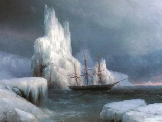 И. Айвазовский. Ледяные горы в Антарктиде