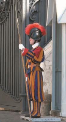 Швейцарский гвардеец в Ватикане