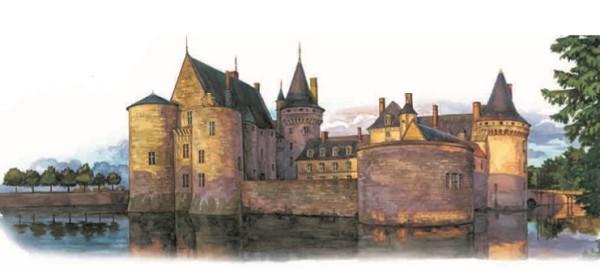 Средневековый замок на Луаре (Франция)