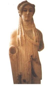 Статуя девушки из «персидских» развалин
