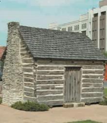 Один из первых домов в Далласе (США)