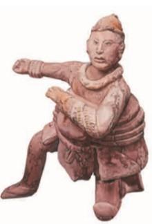 Терракотовая фигурка майя