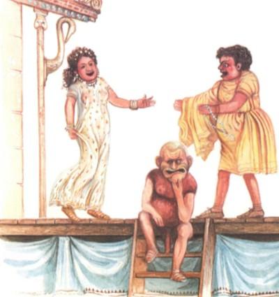 Сцена из комедии