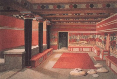 Так выглядел Тронный зал Кноссского дворца (реконструкция)
