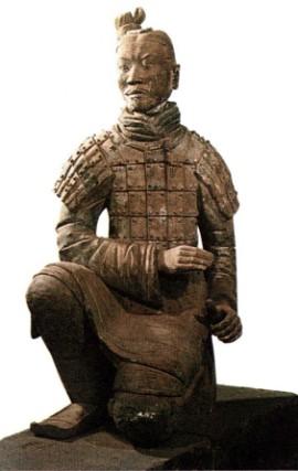 Один из воинов глиняной армии