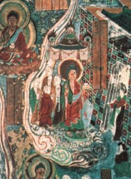 Стенные росписи в гротах Мохао