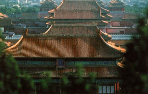Видна крыши «запретного города»