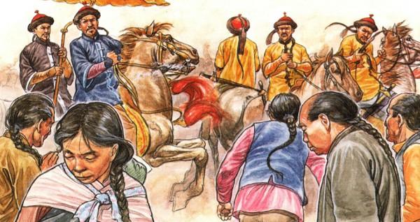 При правлении Цин все китайцы должны были в знак подчинения носить манчьжурскую косу