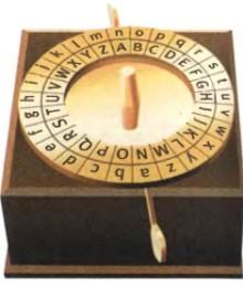 Машина для шифровки сообщений с дисками букв