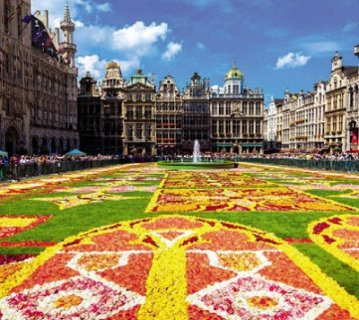 Цветочный ковёр в Брюсселе