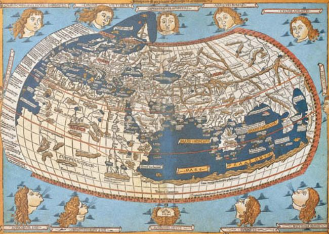 Карта XV в., изображающая описание Птолемеем Ойкумены