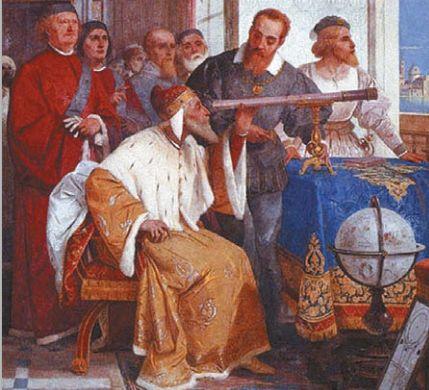Галилей показывает телескоп дожу Венеции. Фреска Джузеппе Бертини
