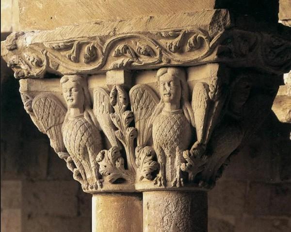Романские капители собора монастыря Сан-Доминго в Силосе