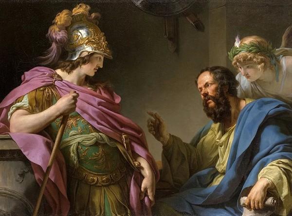 Сократ беседует с Алкивиадом