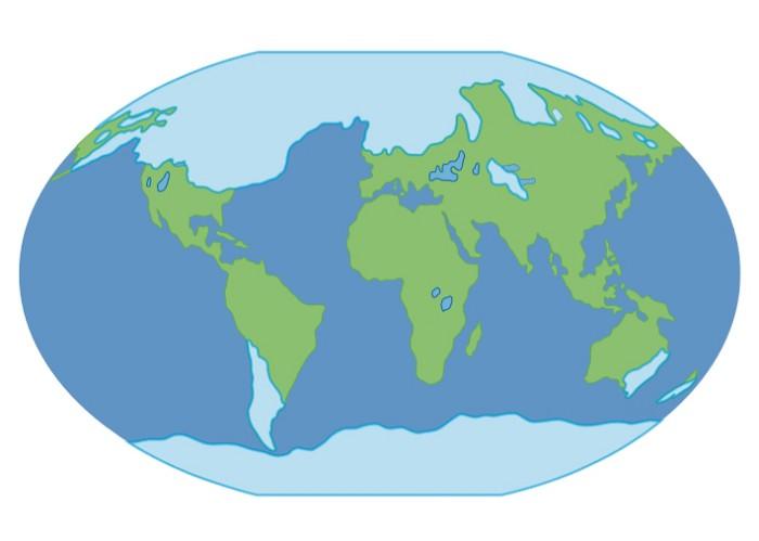 Карта оледенения Земли