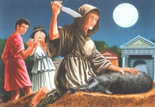 приношение в журтву черной овцы