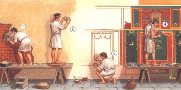 как делали фрески в Древнем Риме