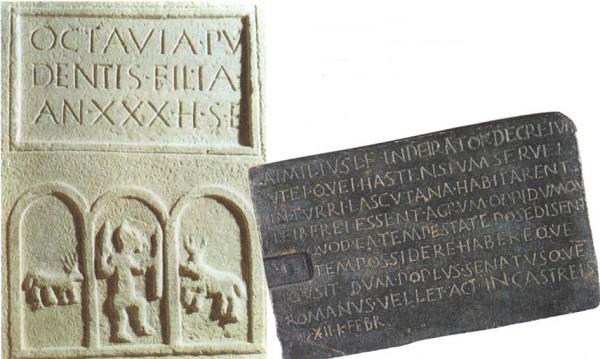 Надписи на камне Древний Рим