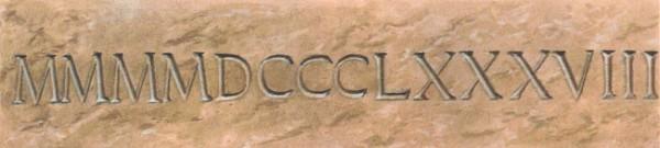 4888 - самое длинное число по количеству римских цифр