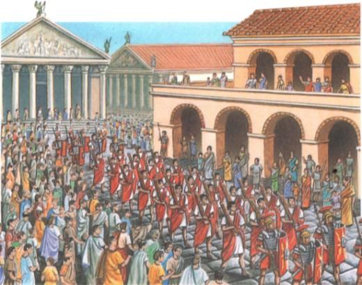 Императора сопровождали ликторы