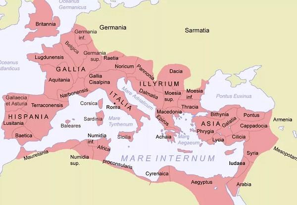 Территория Римской империи во II в.