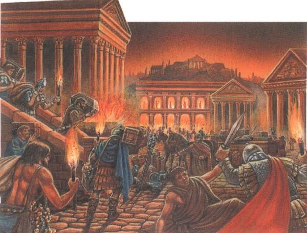 разграбление в 455 г. Рима вандалами
