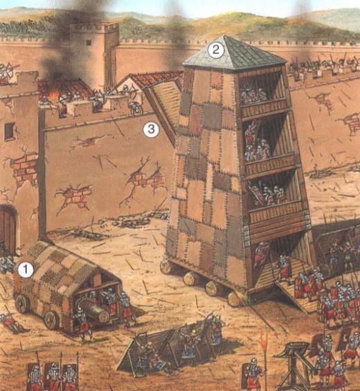 римские штурмовые сооружения