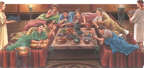 Роскошный обед в Древнем Риме