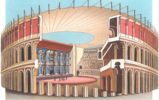 Римский театр в разрезе