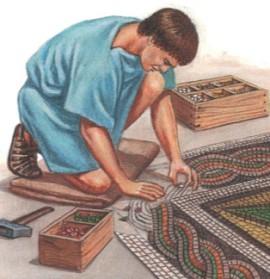 Римляне любили украшать полы своих домов мозаиками