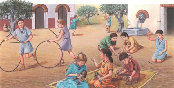 Игры детей в Древнем Риме