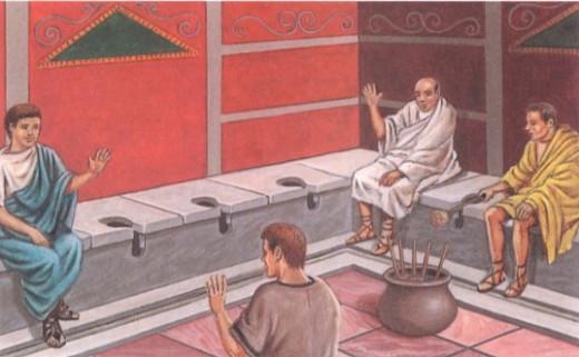 Общественные туалеты в Древнем Риме