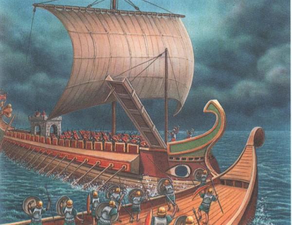 римский корабль