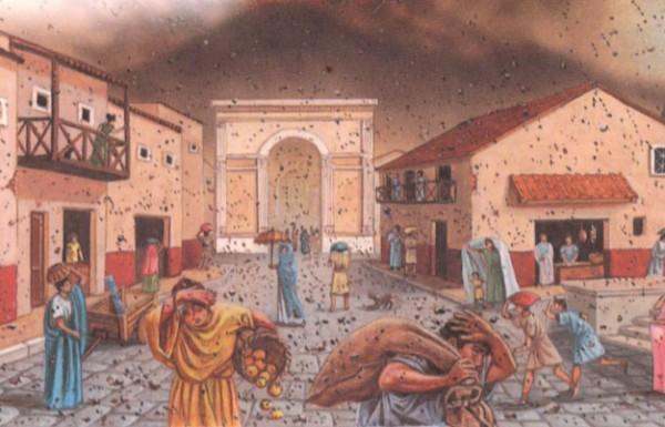 Извержение вулкана в Помпеи