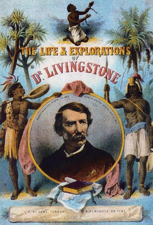Титульный лист книги «Жизнь и исследования доктора Ливингстона». 1875 г.