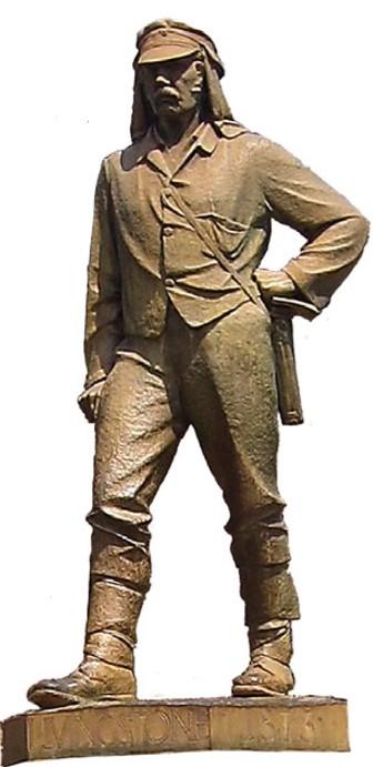 Памятник Д. Ливингстону у водопада Виктория