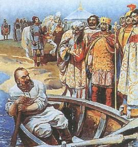 Встреча Святослава с императором Иоанном Цимисхием