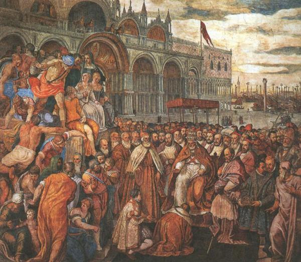 Покаяние Фридриха I перед Папой Александром III