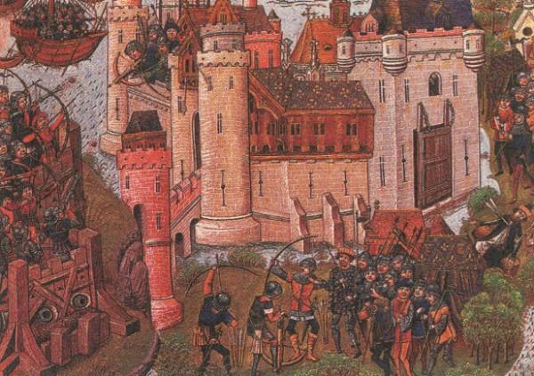 Осада крепости мортань близ Бордо