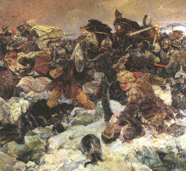В. А. Серов. Ледовое побоище. 1942 г.