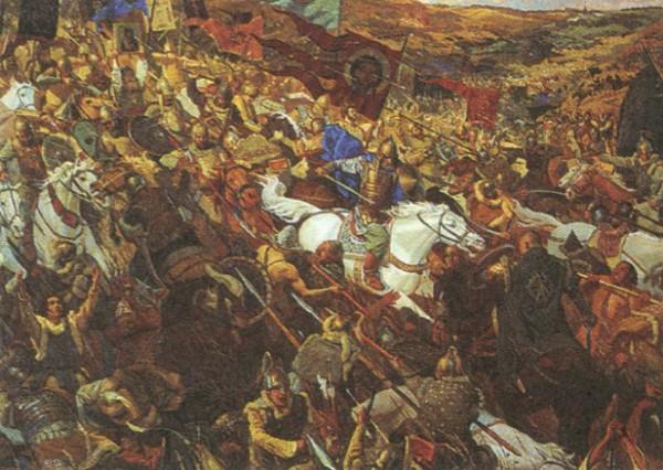 П. Попов, В. Маторин. Засадный полк (Куликовская битва)