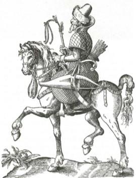 Русский конный воин. Немецкая гравюра. XVI в.