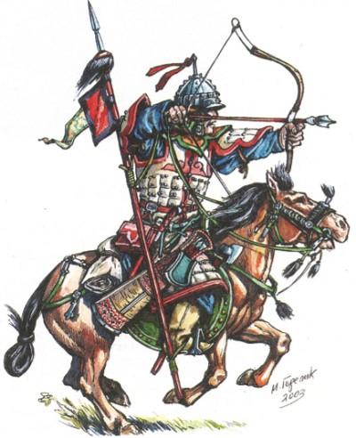 Монгольский средне-вооружённый конник