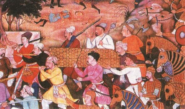 Похороны Чингисхана. Индийская миниатюра