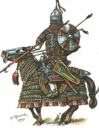 Монгольский тяжеловооружённый воин