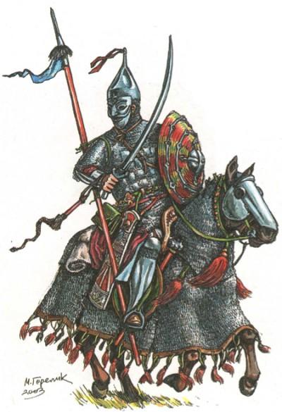 Золотоордынский конный латник. XIV в. Реконструкция М. В. Горелика